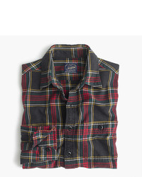Midweight flannel shirt in black and red tartan medium 956767