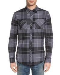 Sb holgate regular fit plaid flannel shirt medium 963042