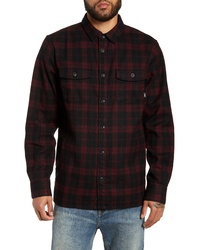 Black Plaid Flannel Shirt Jacket