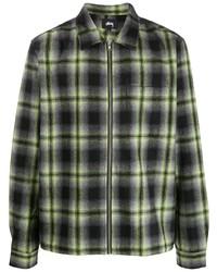 Stussy Checked Zip Up Shirt