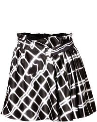 Kenzo Twill Plaid Print Skirt