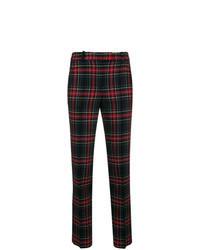 Black Plaid Skinny Pants