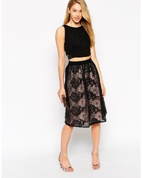 Asos Petite Sheer Lace Organza Midi Skirt | Where to buy & how to wear