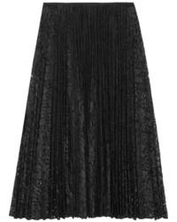 Theory Zeyn Pliss Lace Midi Skirt