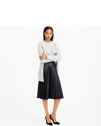 96a6adbbaaaa Faux Leather Pleated Midi Skirt. Black Pleated Leather Midi Skirt by J.Crew