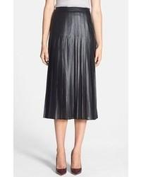 Trouve Trouv Pleat Midi Skirt