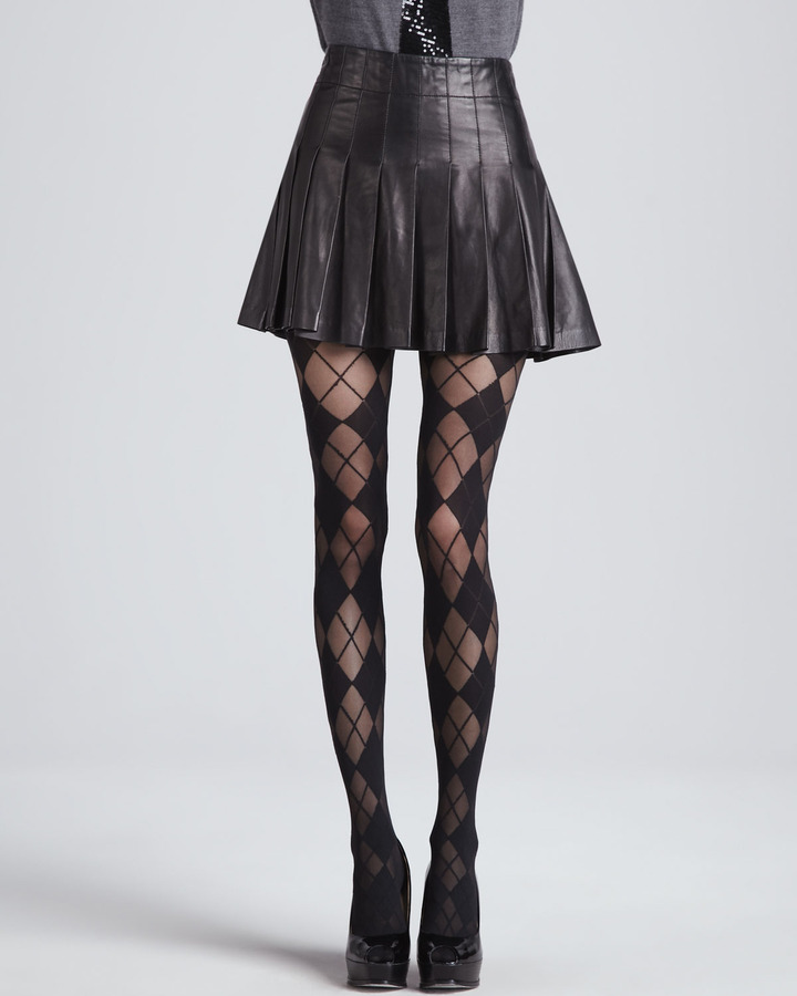 7c75f467d628 Alice + Olivia Box Pleat Leather Skirt, £397 | Bergdorf Goodman ...