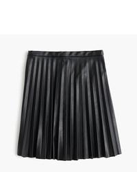 Faux leather pleated mini skirt medium 876503