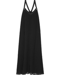 MICHAEL Michael Kors Michl Michl Kors Pleated Georgette Maxi Dress Black