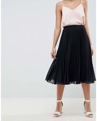 Asos Design Pleated Midi Skirt