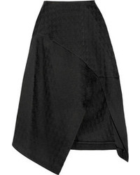 Stella McCartney Houndstooth Cotton Blend Jacquard Midi Skirt