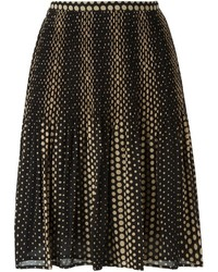 MICHAEL Michael Kors Michl Michl Kors Polka Dot Pleated Skirt