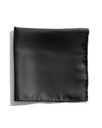 Nordstrom Silk Twill Pocket Square Black One Size