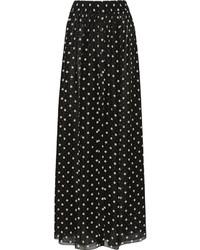 Layered silk georgette wide leg pants medium 277056