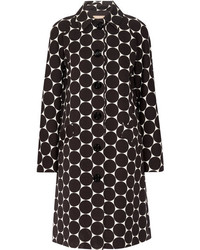 Michael Kors Michl Kors Collection Polka Dot Cotton And Silk Blend Matelass Coat Black