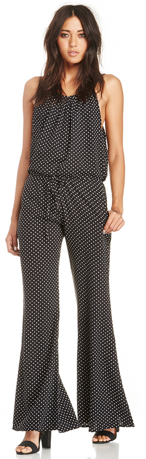 Dailylook Polka Dot Jumpsuit In Black White Xs M Where To Buy