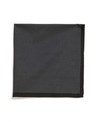 Original Penguin Keynes Pin Dot Silk Pocket Square Black One Size