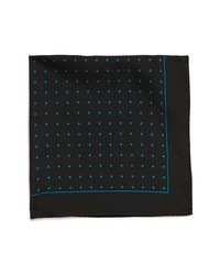 Original Penguin Lexington Dot Silk Pocket Square Black One Size