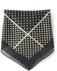 Saint Laurent Polka Dot Pocket Square