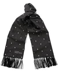 Skull jacquard silk twill scarf medium 876796