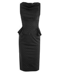 Nina Ricci Polka Dot Peplum Dress