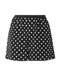 Marc Jacobs Polka Dot Silk Crepe De Chine Shorts