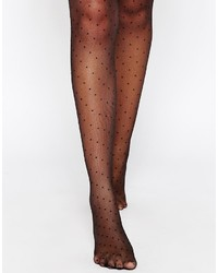 Asos Dotty Lace Top Hold Ups