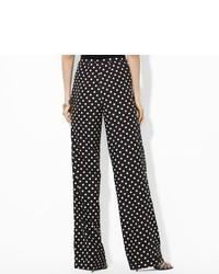 Ralph Lauren Polka Dot Wide Leg Pant