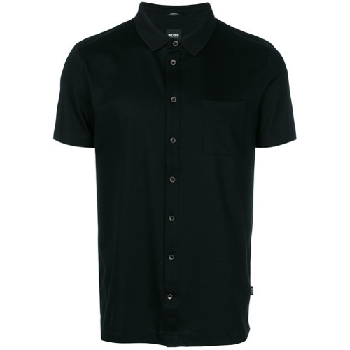 8bfe056e BOSS HUGO BOSS Buttoned Polo Shirt, £169   farfetch.com   Lookastic UK