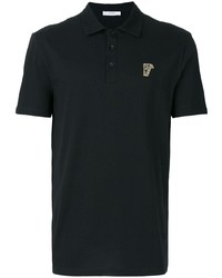 Versace Collection Half Medusa Patch Polo Shirt