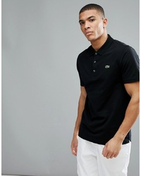 Lacoste Sport Logo Polo In Black