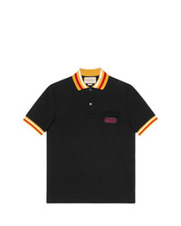 eb87af0a8ea9 Men's Black Polos by Gucci | Men's Fashion | Lookastic UK