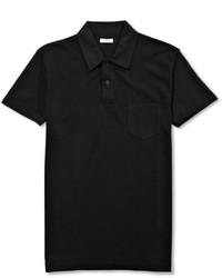 Sunspel Riviera Cotton Mesh Polo Shirt