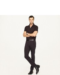 Ralph Lauren Black Label Stretch Mesh Snap Polo