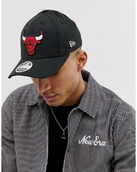 New Era 9fifty Stretch Snap Chicago Red Bulls Adjustable Cap In Black