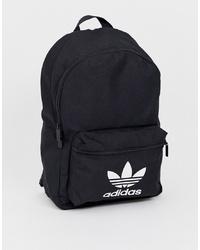 adidas Originals Logo Backpack In Black