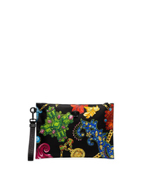 Versace Multicoloured Jewellery Print Clutch Bag