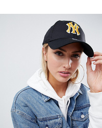 New Era 9forty Retro Black Cap With Gold Ny