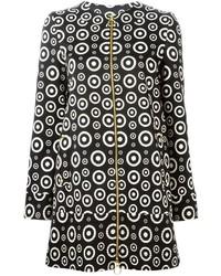 Fausto Puglisi Circle Print Zipped Coat
