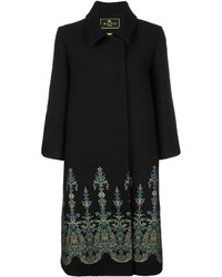 Etro Gothic Print Trim Coat