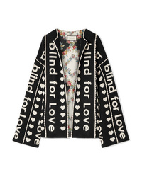 Gucci Oversized Wool And Cashmere Blend Jacquard Jacket