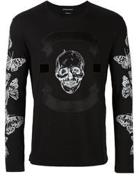 Alexander McQueen Skull And Moth Print T Shirt
