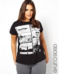 Asos Curve T Shirt In London Print