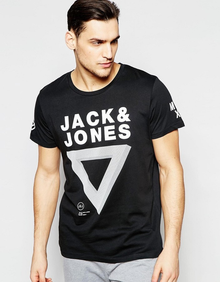 outlet store f9bc3 fe1f0 £20, Jack and Jones Jack Jones T Shirt With Triangle Print