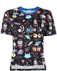 Fendi Monster Space Print T Shirt