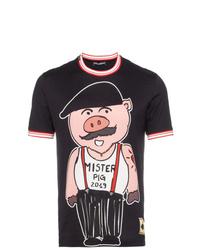 Dolce & Gabbana Sicily Pig Cotton T Shirt