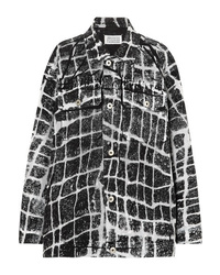 Maison Margiela Oversized Printed Denim Jacket