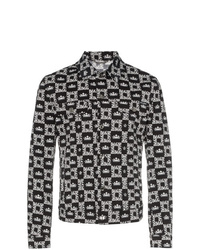 Dolce & Gabbana Logo Checked Denim Jacket