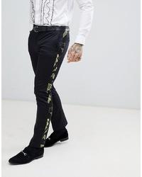 Black Print Dress Pants