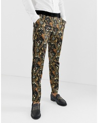 ASOS Edition Skinny Suit Trousers In Baroque Printed Sa